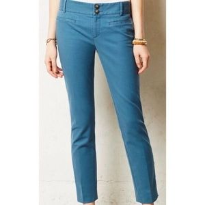 Cartonnier (Anthro) Ankle Zip Teal Charlie Trouser